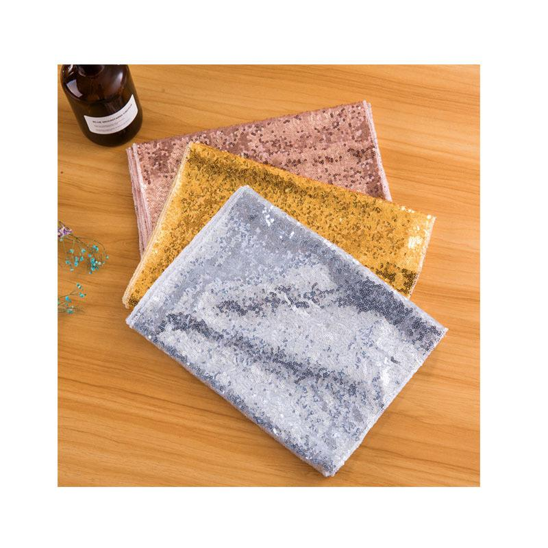 Wedding Banquet Table Cloths Sequins Flag Decorate Cover Kitchen Accessories Encryption 3mm Runner Mix Colors Free Shipping 13xw F2