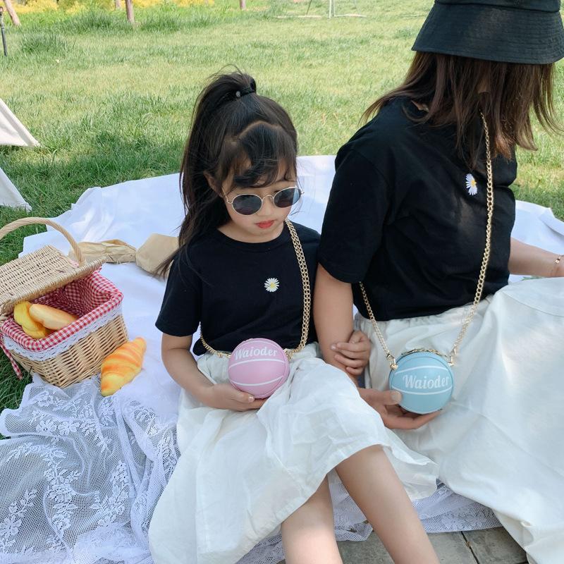 Moda Childrens Bag Novos 2020 pai-filho Basketball modelar acessórios saco Meninas bonito All-jogo Messenger Bag Ombro