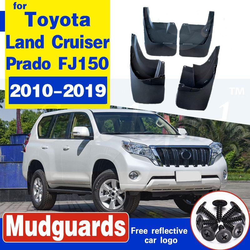 Bavette voiture pour Toyota LAND CRUISER PRADO FJ150 2010-2019 Fender boue Garde Flap Splash Rabats 2015 2016 Accessoires Garde-boue