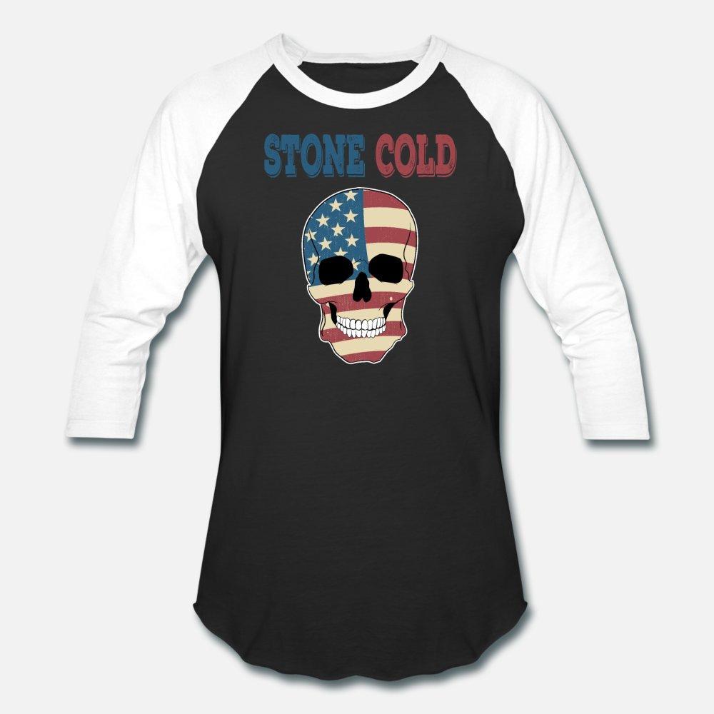 Azılı Ve Ürpertici Stone Cold Tee Tasarım T gömlek erkekler Baskı% 100 Pamuk Yuvarlak Yaka Homme Kırışıklık Karşıtı Günlük Yaz Stil Resmi Gömlek