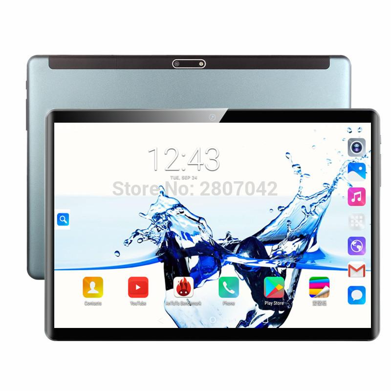 Tablet PC 2.5D 1920*1200 10.1' Tablets Android 9.0 Octa Core 128GB ROM Dual Camera 8MP SIM Wifi GPS Bluetooth Phone 10 Call