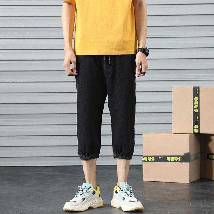 Харлан Капри мужские джинсовые шорты 2020 студент бренд случайные лето мода все-матч ины WORKWEAR Узкие брюки рабочей одежды узкие брюки леггинсы