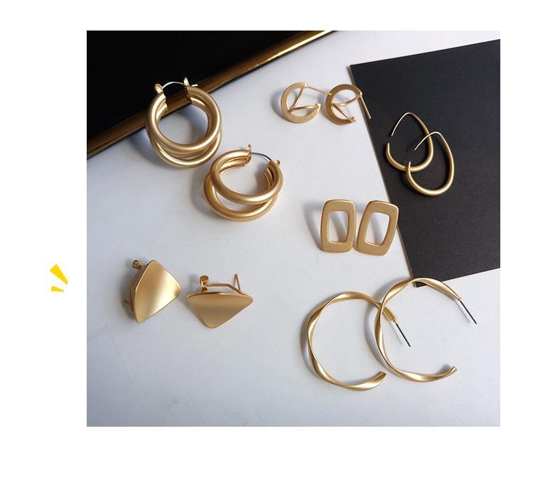 Мода Заявление Oorbellen 2020 Ньиве Geometrische Матовый Gouden oorbellen Вур Vrouwen Opknoping мотаться серьги падения