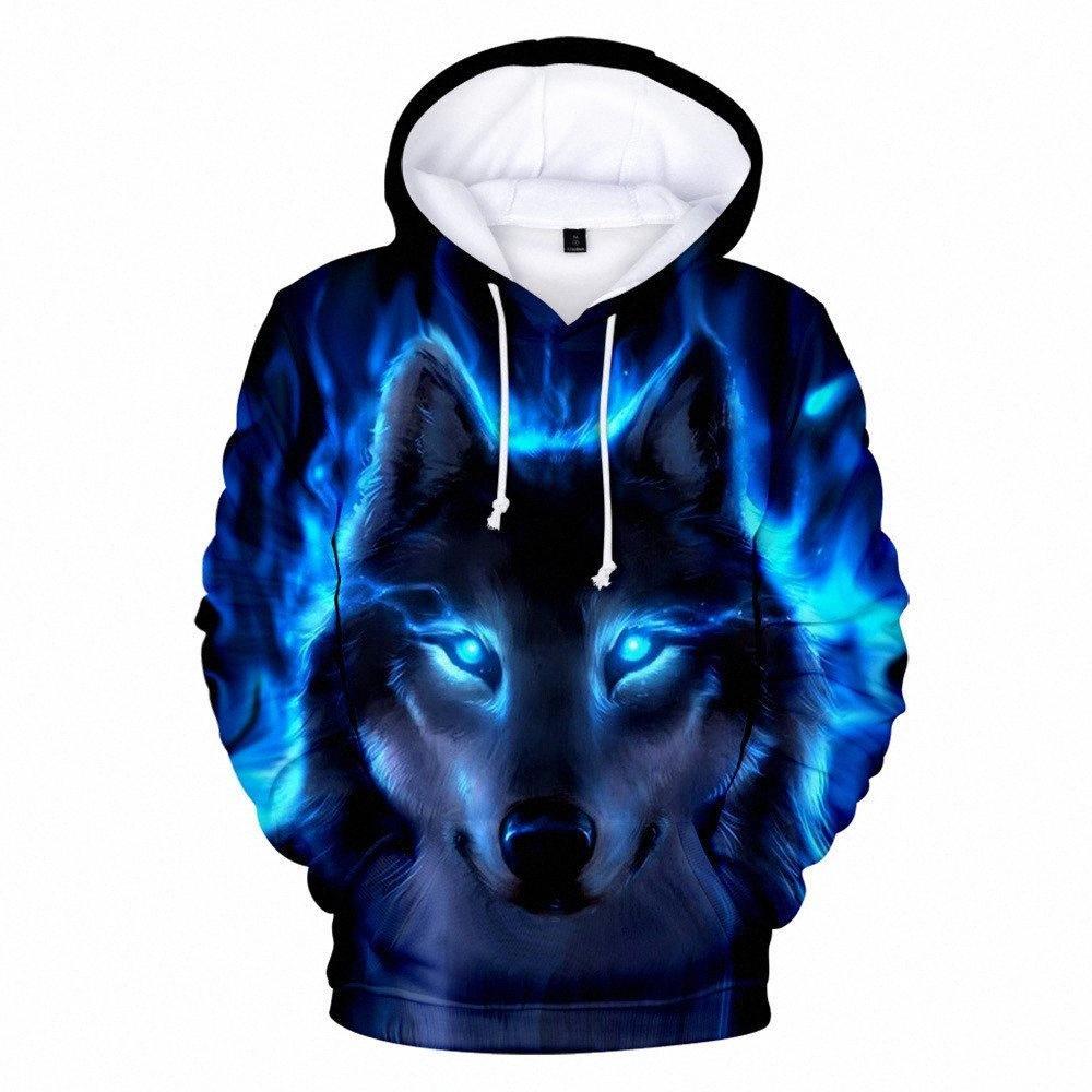 Moda Kpop Hoodie Lobo 3D Homens Meninos camisola Hoodies Marca Designer Crianças roupas de outono inverno de alta qualidade camisola EMCR #