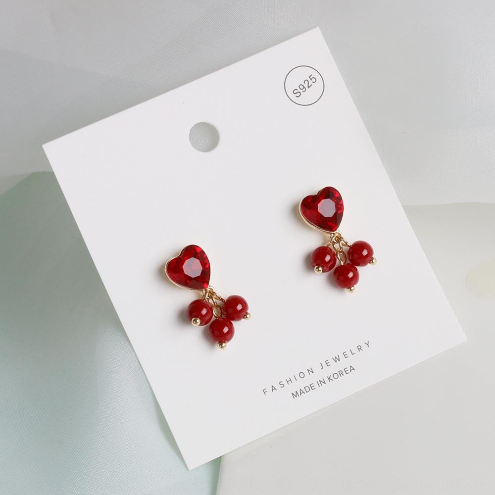 Yeni ins stil nar 925 gümüş iğne moda ve internet kırmızı küpe Kore Dongdaemun küpe GEXgV kırmızı kişiselleştirilmiş