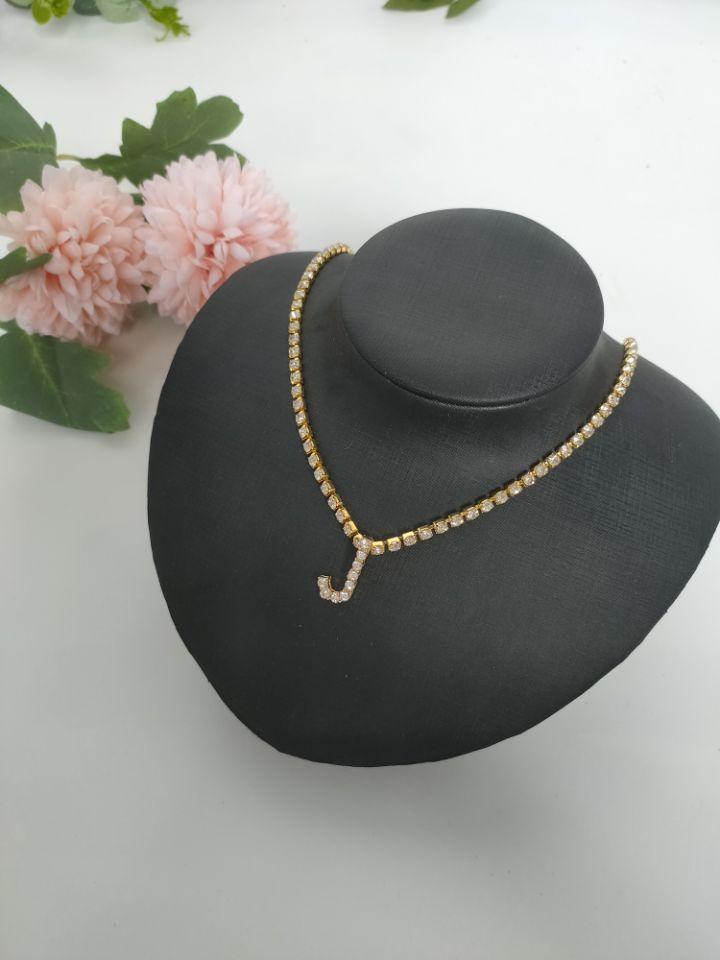Englisch Lettered Halskette Popular Womens Cross Border Strass Anhänger Einfache Legierung Halskette