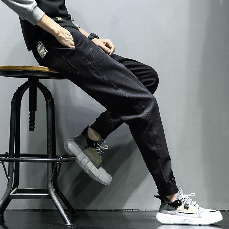 Z73Mj 2020 Sıkı Mevsimler sıkı Dört Günlük gündelik ince stil erkekler Kore sıska moda spor pantolon erkek tüm maç kot pantolon