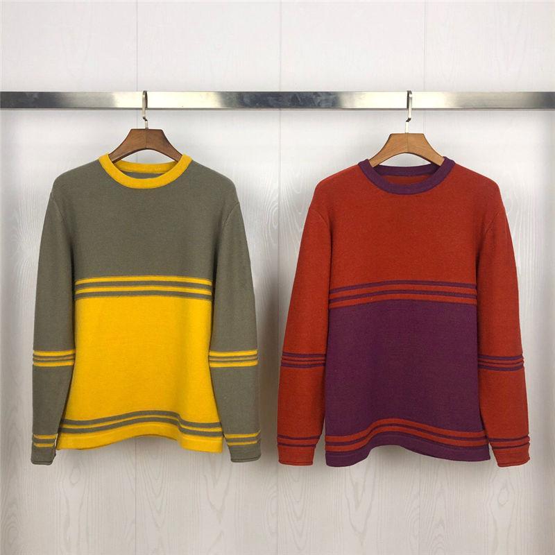 20SS Sweaters Hommes Fashion Hommes Femmes Femmes Pull de haute qualité Pull à manches longues Couple à manches longues Taille M-XXL