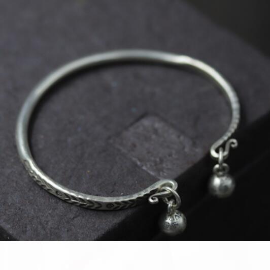 роскошные ювелирные изделия S925 стерлингов серебряных браслетов листов открыть простые браслеты для женщин классических горячих мод свободных судоходства