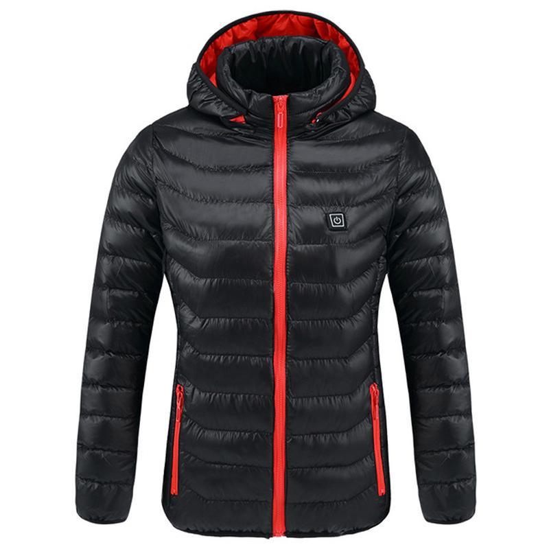 야외 재킷 낚시용 후드 가열 재킷 여성 남성 인텔리전트 겨울 방수 열 따뜻한 USB 가열 빠르게 하이킹