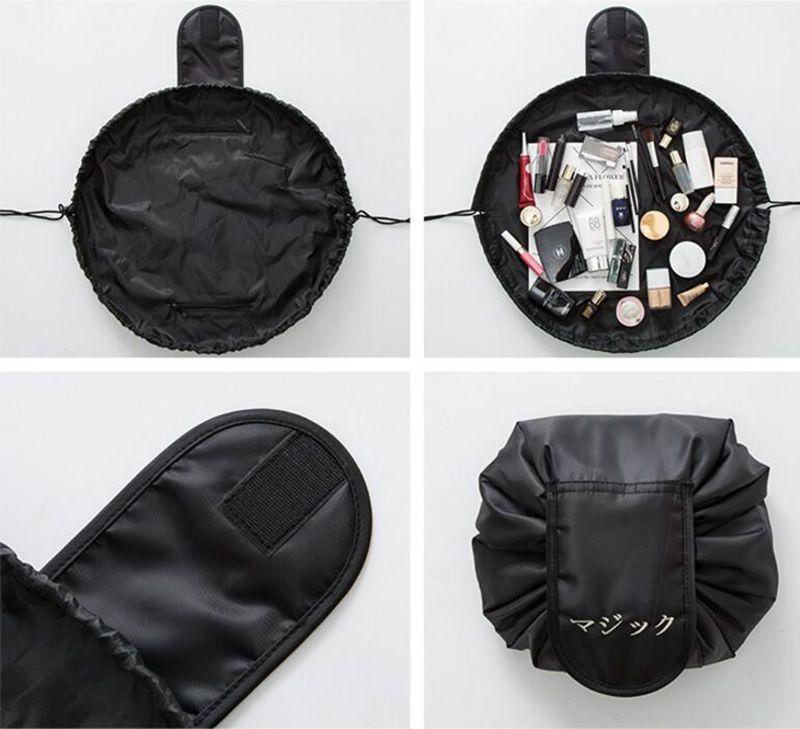 Cosmetic lazy bag borse di stoccaggio con coulisse grandi donne custodia da viaggio capacità articoli vari lazy bag moda Corea DHT301-2