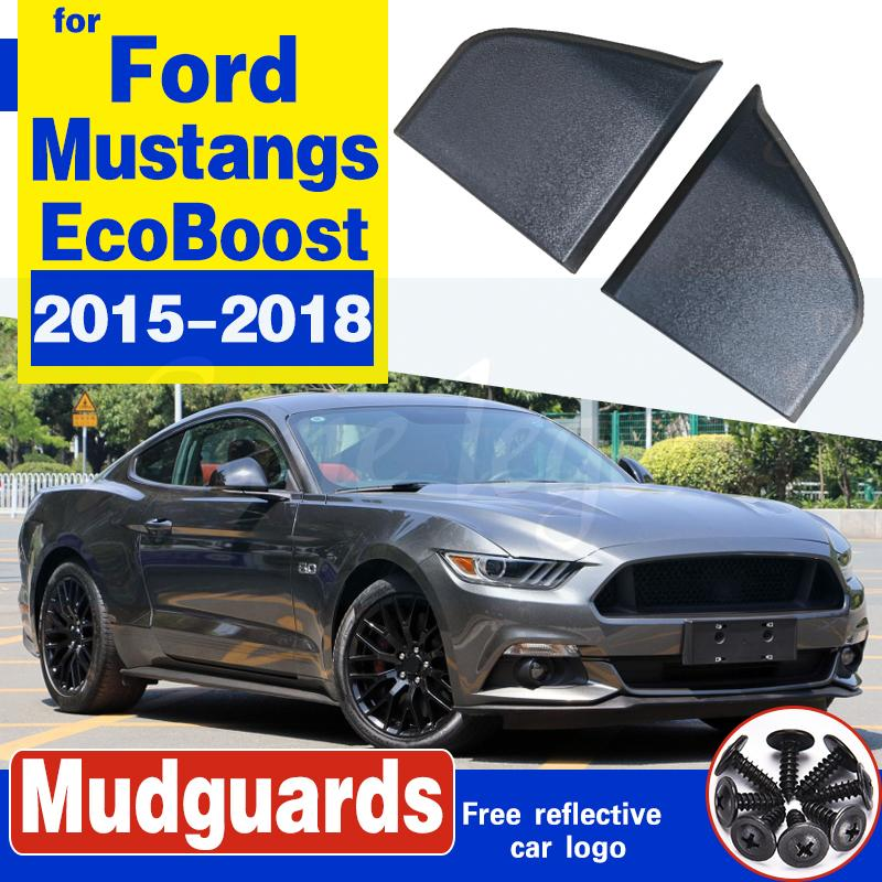 Für Ford GT350 Rocker Winglets Seitenschweller Spoiler-Schutz für Ford Mustang GT EcoBoost V6 2015-2018 Auto Stying Matte Blcak 2ST