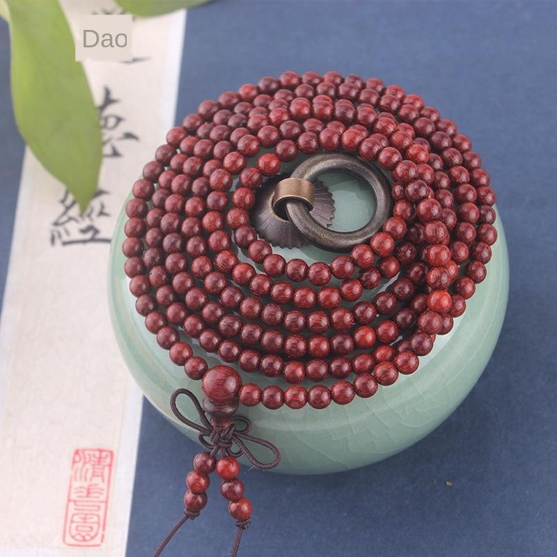 Lobular Rosewood 3-5mm * 216 jóias suavizar pulseira padrão pequeno buraco contas pulseira de mulheres kQBTq
