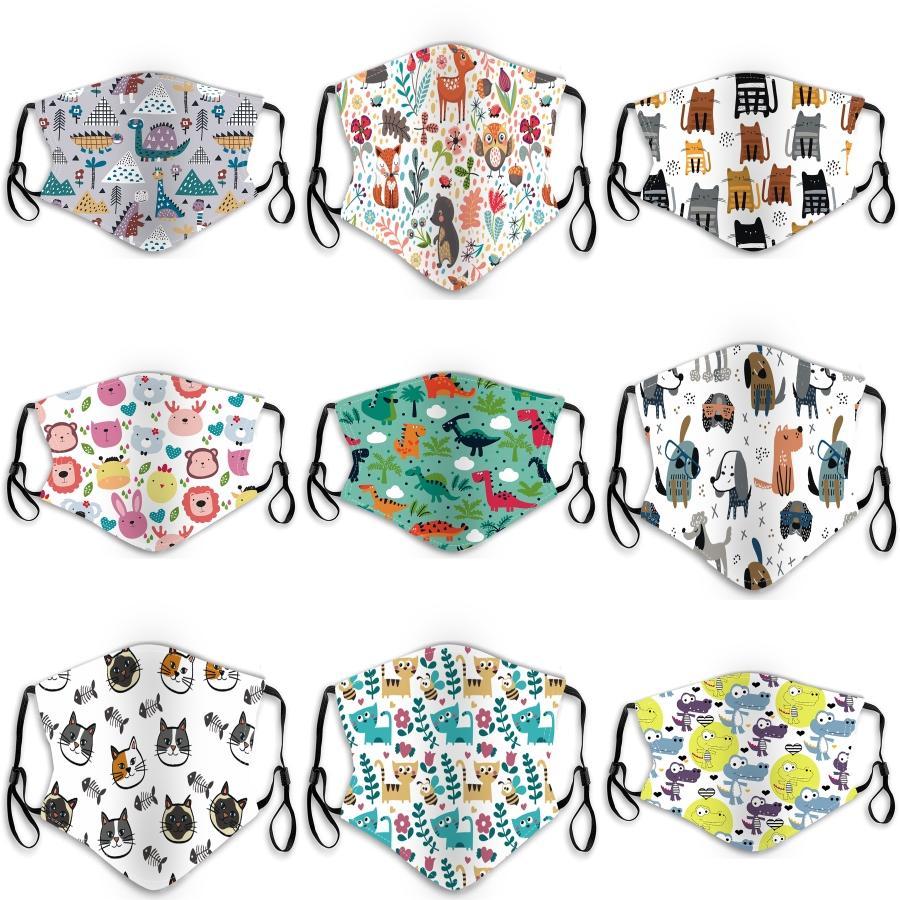 Máscaras Pacotes Individuais Moda lavável protectora protetora preto de algodão reutilizável Crianças Ciclismo Anti Poeira Boca máscara máscaras Crianças Pano # 940