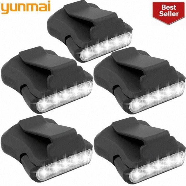 yunmai nuevos 5pcs 5 Sensor LED Faro Cap Cabeza Sombrero luz de la lámpara de la antorcha Negro Senderismo Ciclismo Montar las luces de destello al aire libre # qopn