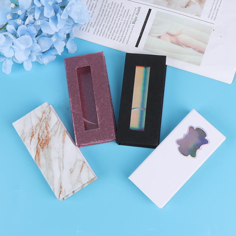 1X Conditionnement Boîte Cils Faux Cils Boîtes Extension bande Rose / Noir / Blanc / Marbre