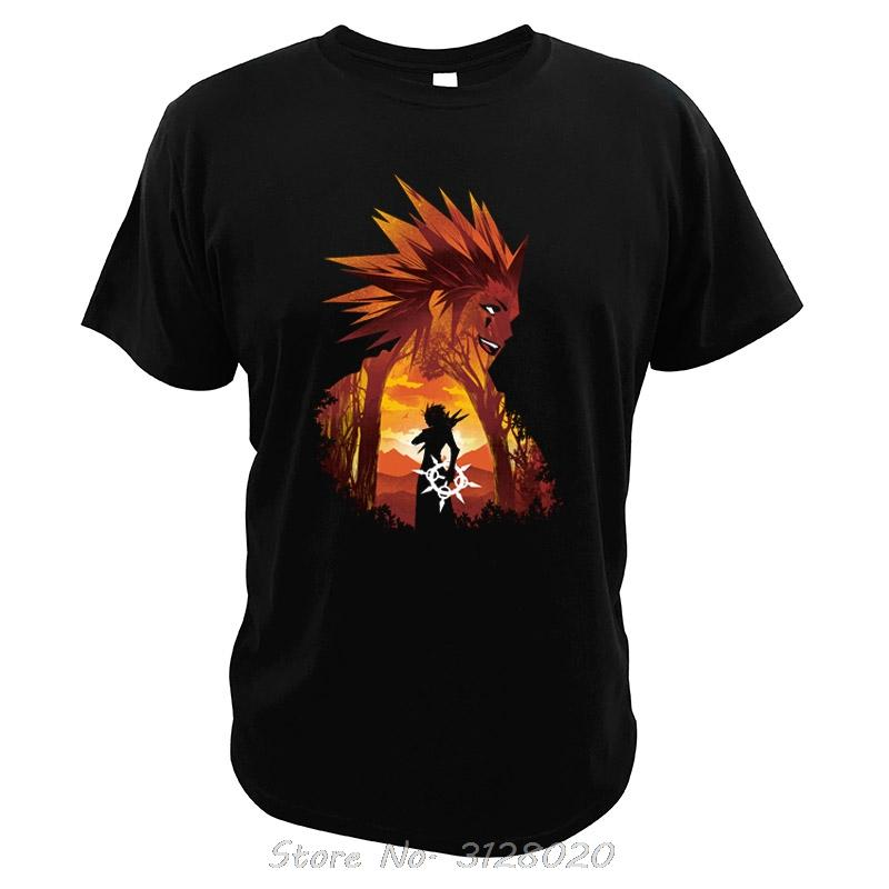 Kingdom Hearts T-Shirt Axel Role Play Video Game Tops Men Cotton Qualitäts-Sommer-beiläufige Baumwoll O-Ansatz T-Shirt T-Shirts