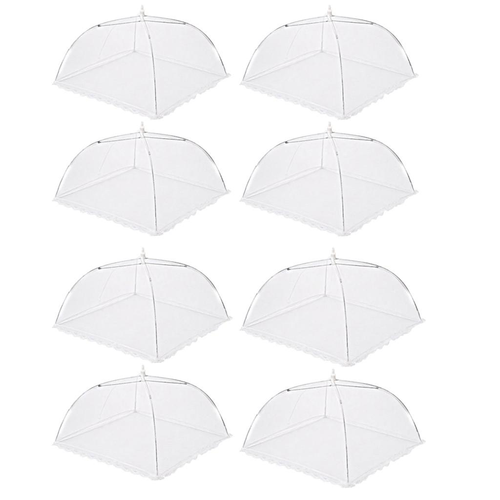 Mosquito 8pcs Foldable Protector Screen Up Covers Food A20 Large Picnic Net Pop Umbrella Protect Fly Mesh Kitchen Food qylulz allguy