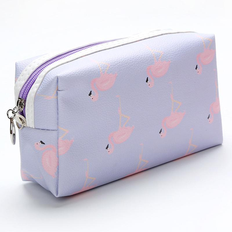 Travel Square Flamingo Storage Bags Waterproof Wash Bag Cosmetic Bag PU Makeup Organizer Travel Cosmetic Pouch Toiletry Organizer BC BH0788