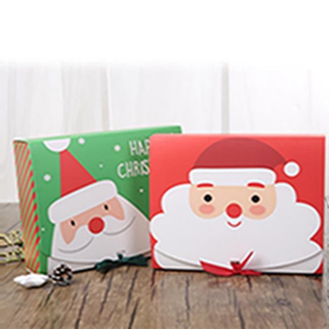 Рождественский EVE Большая подарочная коробка Santa Faile Design PaperCard Kraft anding Party Party Activity Box Красный Зеленый EAEA684