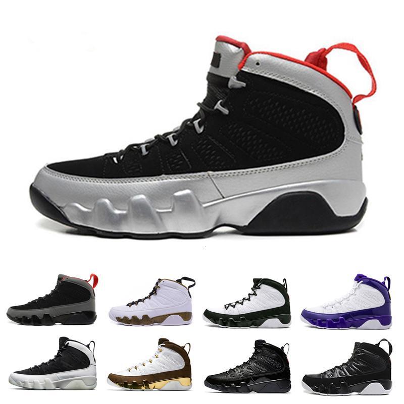 баскетбол 9 9s мужчины обуви OG тур Желтого PE Антрацит Дух Джонни Kilroy 2010 релиза спортивных кроссовок