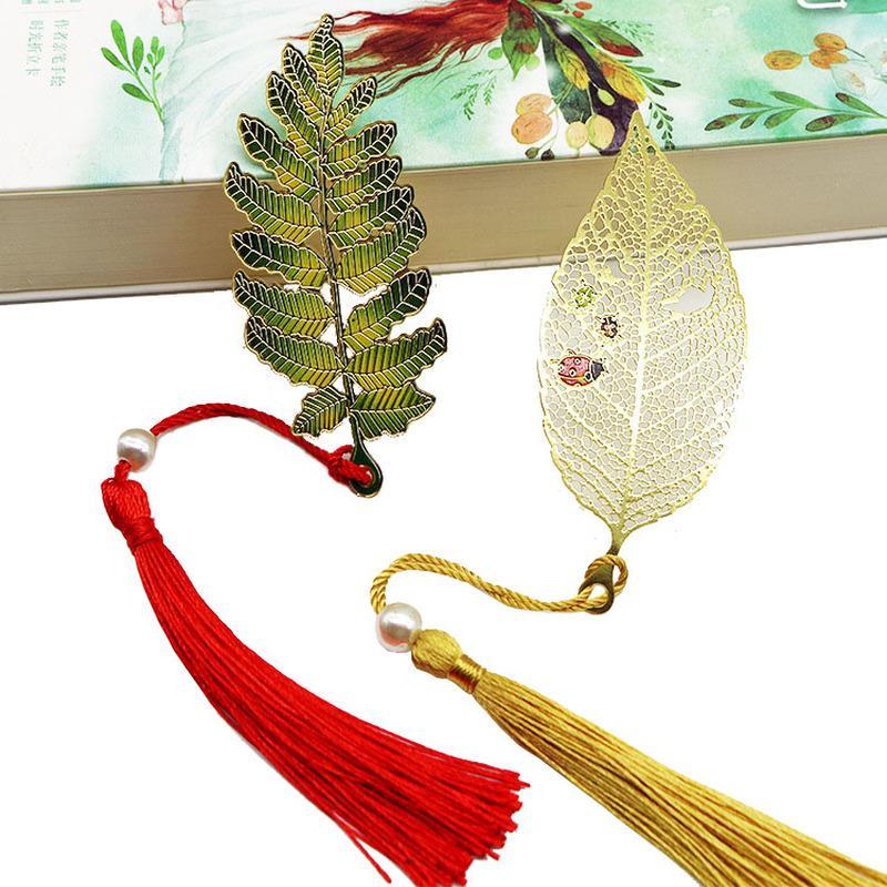 1pcs métal Bookmark feuilles Creative style Vintage Chinese livre Marqueurs école Fournitures de bureau