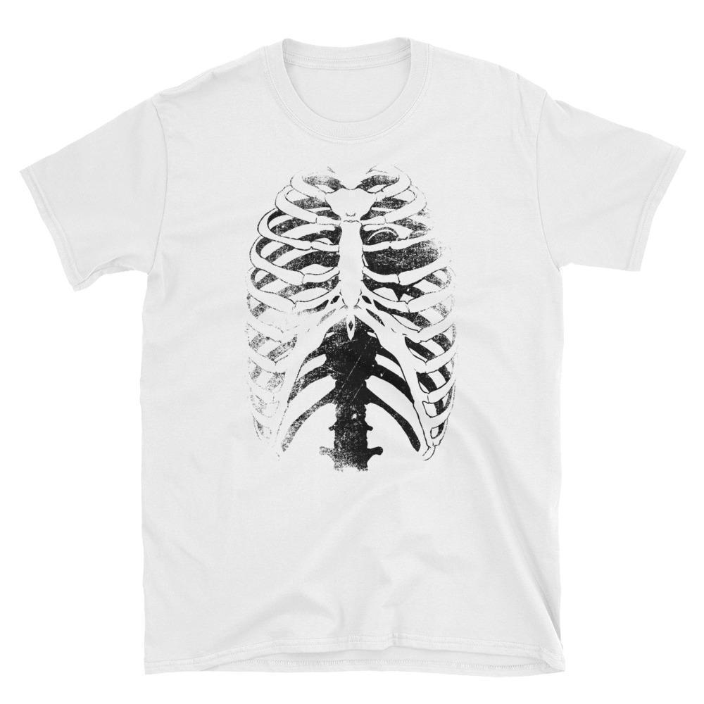 2019 neue Mens-T-Shirts Skeleton Ribcage Horror Goth Punk Männer T-Shirt aus 100% Baumwolle Brand New T-Shirts