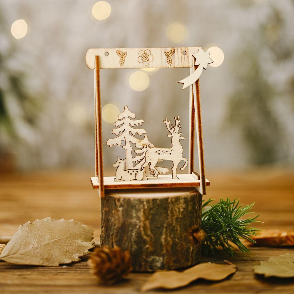 Howe Noel Diy accessoriesaccessoriesdecoration tatil malzemeleri ahşap diy salıncak Noel süsleri yaratıcı yaşlı adam ağaç süsleri olmak