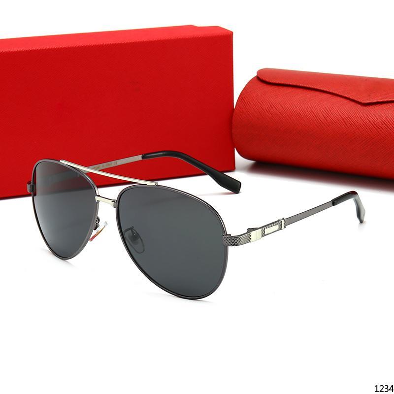 03 lente metal dobradiça 54 milímetros Marca Designer Homens Mulheres Moda Plank armação dos óculos de sol do esporte do vintage com vidros de sol caixa