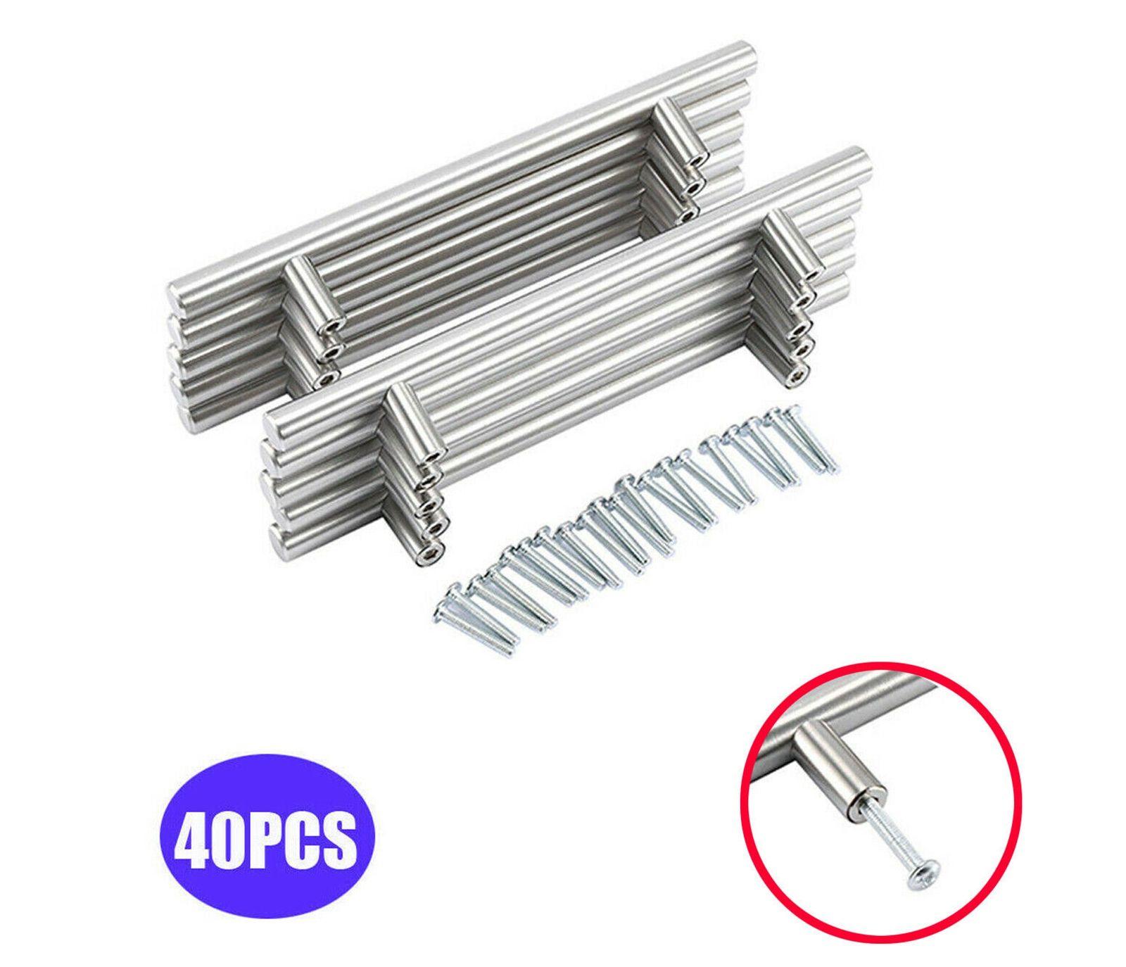 Maniglia 40PC acciaio inossidabile spazzolato Kitchen Cabinet Door T Bar cassetto pull