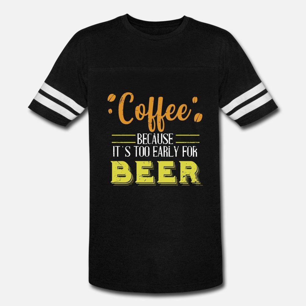 Kahve Erken Kalkan geç kalkanlara Kafein Bira t gömlek erkekler Custom pamuk S-3XL Kostüm Sunlight Nefes Yaz Stili Desen gömlek