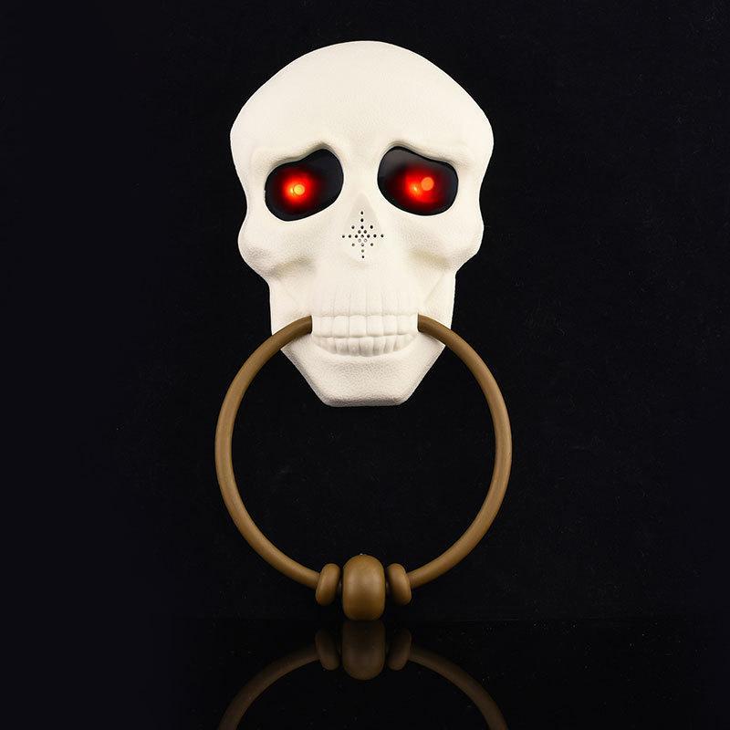 DIY 장식 초인종 할로윈 파티 두개골 모양의 초인종 장난감 유령의 집 파티 장식 10367 조명 무서운 눈을 소품