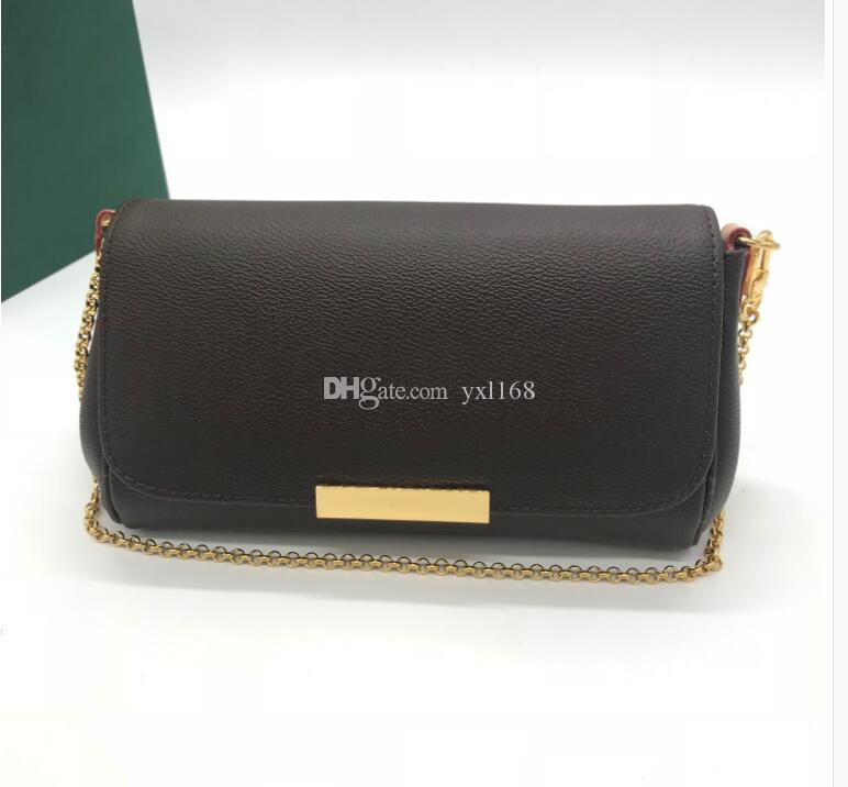 هايت نوعية الازياء الجديدة الشهيرة اصلية المرأة حقيبة يد رسول 40718 حقيقي جلدي كتف حقيبة مع سلسلة FAVORITE لحاق