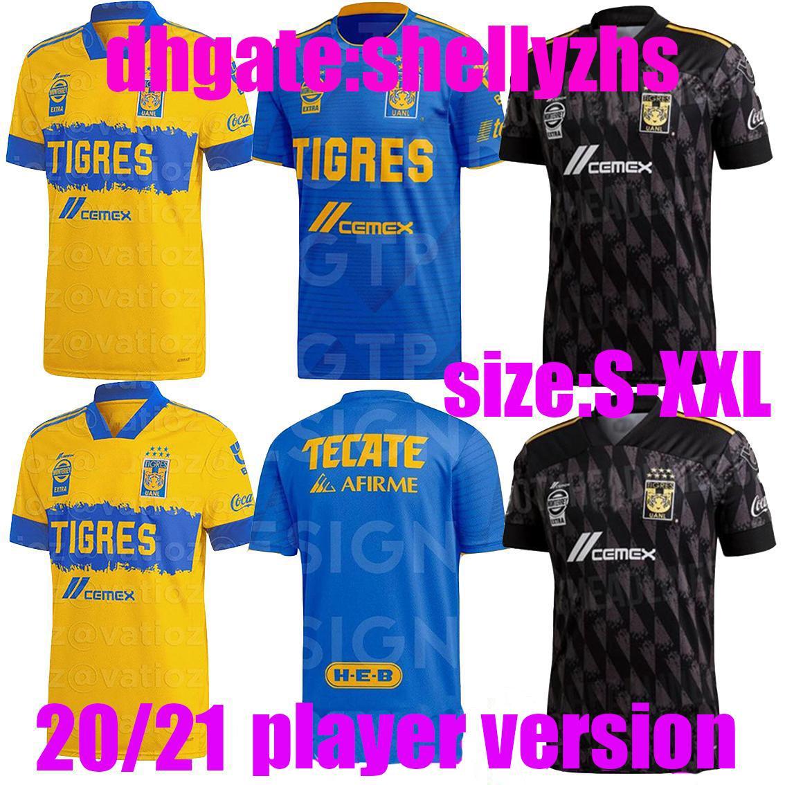 Player version Liga MX 20 21 Tigres UANL 7 star maillots de foot soccer jersey home away GIGNAC 20 21 football tight shirt
