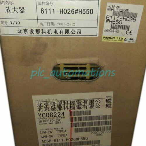 Neu in Box Fanuc A06B-6111-H026 # H550 Servoverstärker Einjährige Garantie