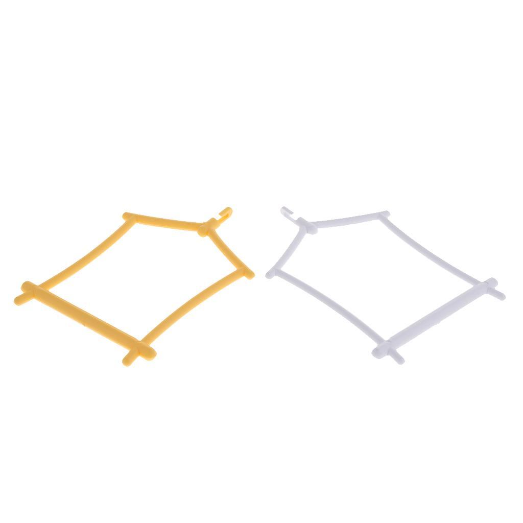 2pcs plástico oscilación del soporte de la pata de pulido del palillo del loro perchas soporte Estación Plataforma jaula de pájaros de los juguetes colgantes