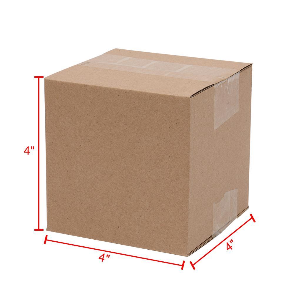 """Waco небольшая рассылка бумаги гофрированные коробки, 4x4x4 """"бумага, картонный подарок крафт, упаковка и перемещение, (пакет 100)"""