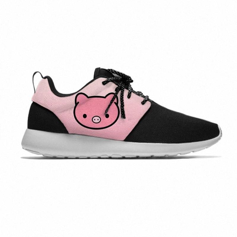 porcelet porcin animal Cartoon Enfants Mignon Sport Chaussures de course Casual Respirant Léger 3D Imprimer Sneakers petits garçons filles zFE0 #
