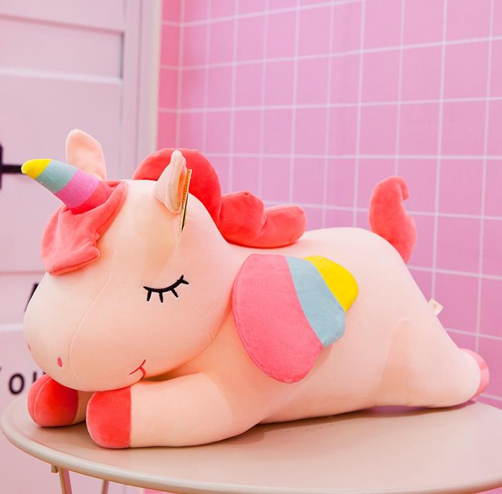 AG-006-1 New Pink Cotton Rope Unicorn Plush Toy 40cm Stuffed Animal Toy Cuddly Plush Pillow Doll Baby Kids Cute Oversize Toy