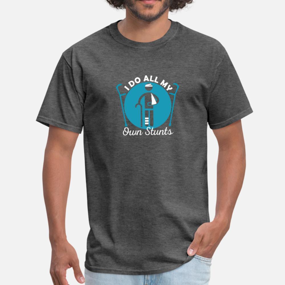 Faccio tutto My Own Stunts uomini della maglietta regalo Tee Shirt Plus Size 3XL Kawaii regalo divertente estate casuale di stile Kawaii