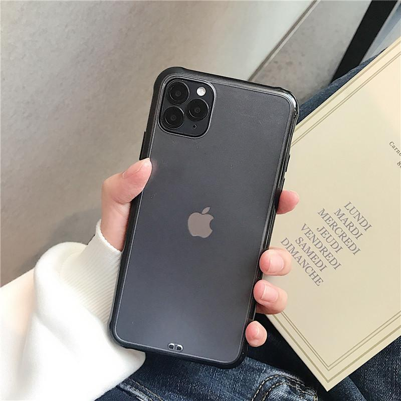 6s Telefono trasparente per X Xs Plus 6 antiurto 11 Xr 8 Max molle opaca 7 Cover Iphone Caso 11Pro Max paraurti yYYzH hairclippersstore