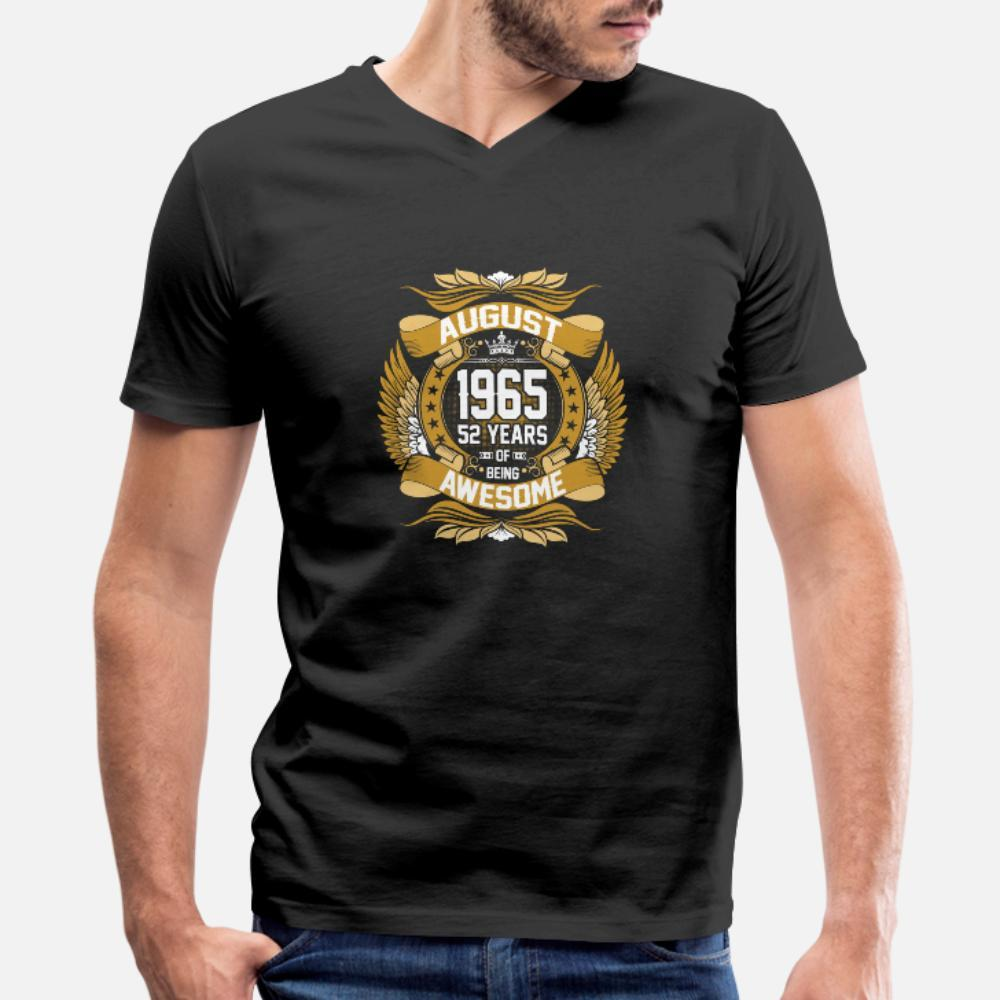 Ağustos 1965 olmak Müthiş t gömlek erkekler tasarımcı pamuk S-XXXL Temel Katı Çılgın moda İlkbahar Sonbahar ince gömlek Of 52 yaşında