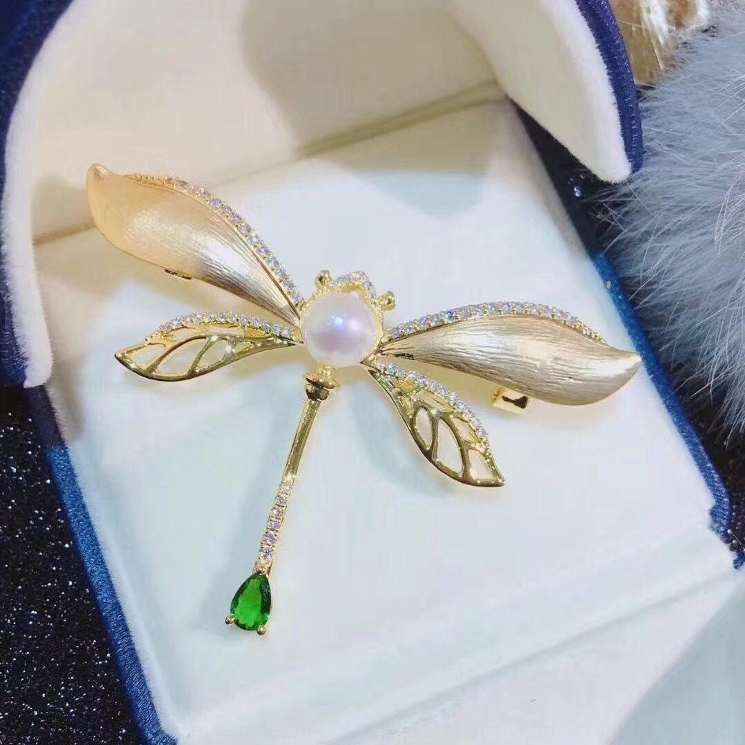 accessori maglione IOpsF fai da te Pearl vuoto sostegno della libellula spilla temperamento maglione catena a duplice uso perla corpetto nuovo modo coreano