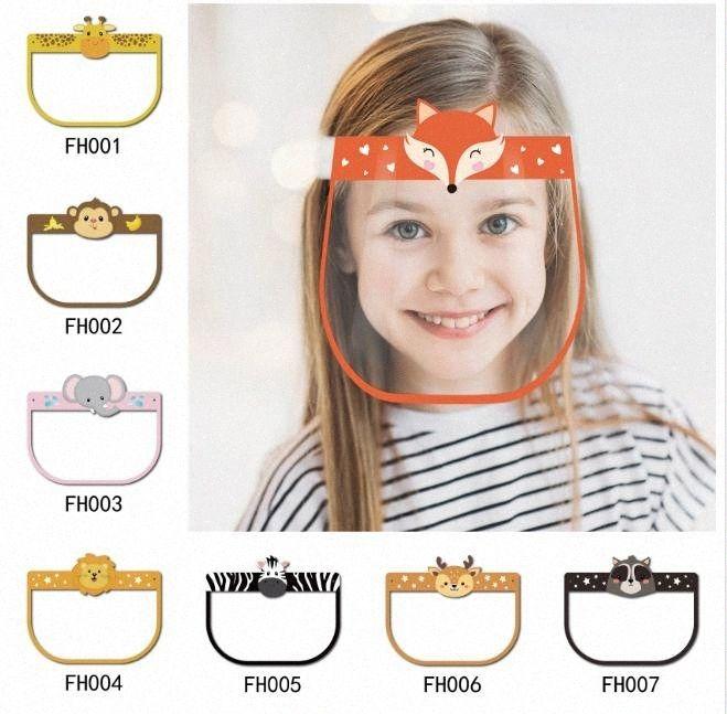 Styles enfants Sécurité bouclier visage transparent facial Couverture de protection Film anti-buée haut de gamme PET écran facial partie Masque DHD685 6DKp #