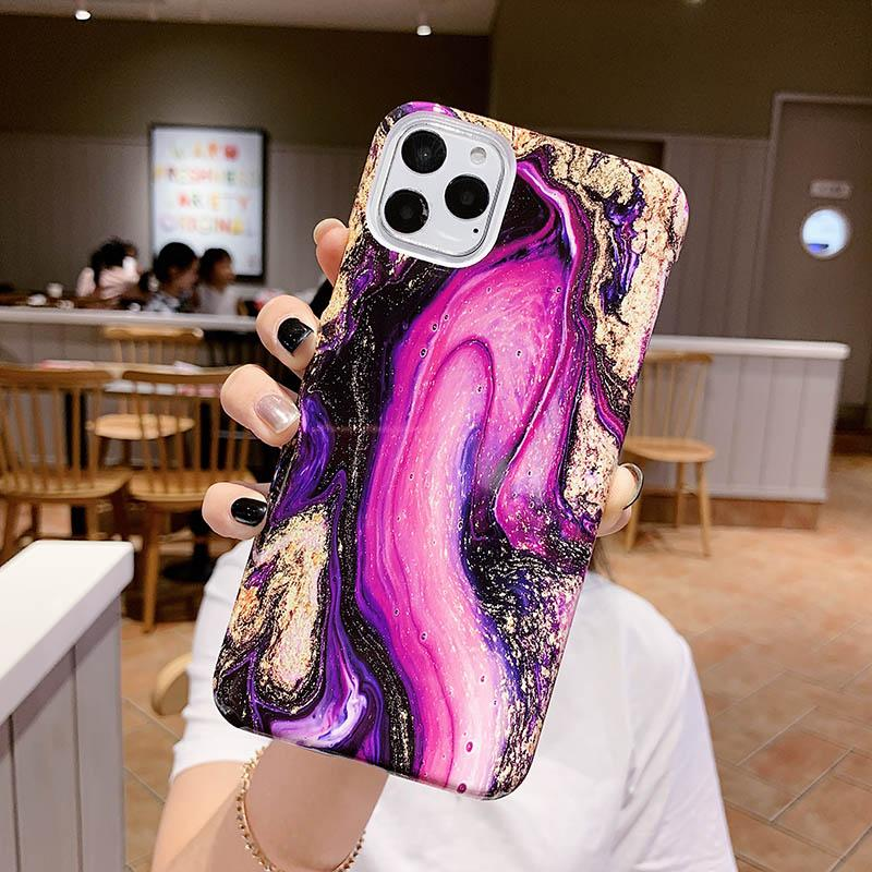 Marmor-Kasten für iPhone 11 X XR XS MAX-Kasten-Silikon-Kästen für iPhone 6 6s 6Plus 7 8 Plus Phone Case