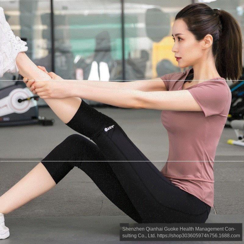 Установить спортивный зал для занятий летом тонкой быстросохнущей йоги одежды моды утра 2020 начинающего короткого рукава женского бега упражнение фитнес-упражнений ЙОГ