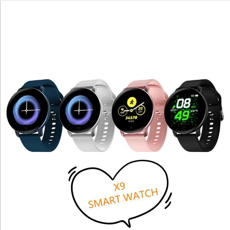 X9 intelligente montre sport x9 intelligente Bracelet avec Bandeaux Moniteur de fréquence cardiaque Tensiomètre d'appel Rappel Fonctions pour iPhone X 11