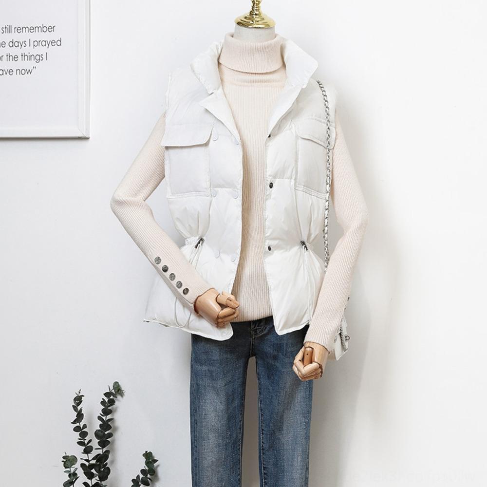 жилет белой утки талии похудение жилет теплого 2020 коротких женской vestseason теплого пуховика пуховика пальто
