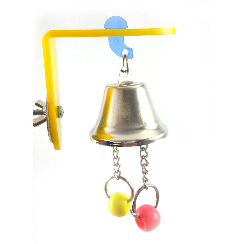 Pájaro del loro del Chew del juguete Juguetes oscilación grande Campanas para mascotas Jaula de Bell Bell que cuelga de cuerda Juguetes
