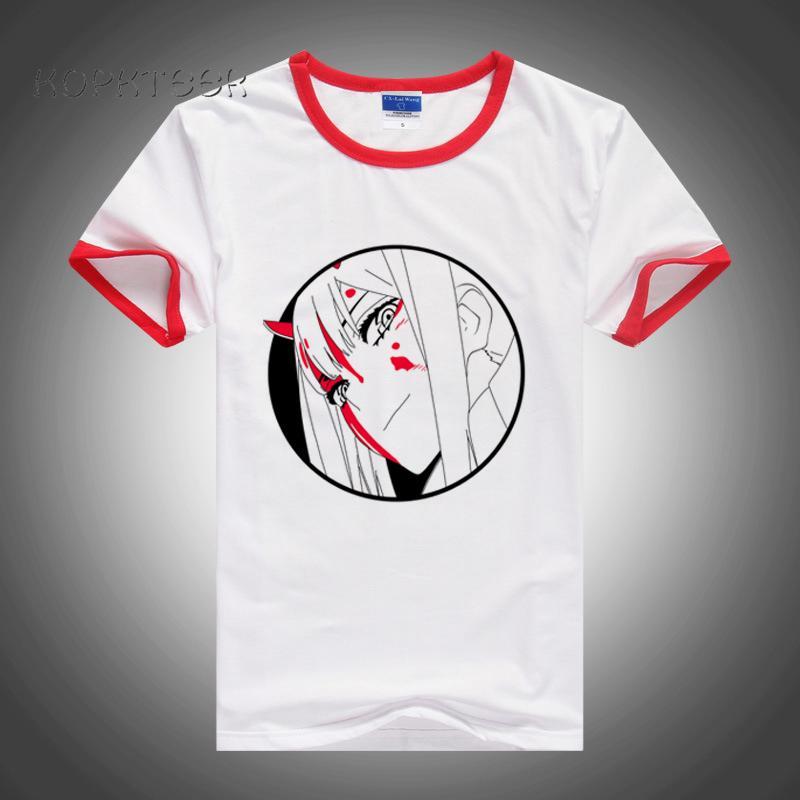 Unisex Uomini maglietta Anime Tesoro zero due Chlorophytum Darling Franxx fumetto maglietta casuale Uomini manica corta T-shirt
